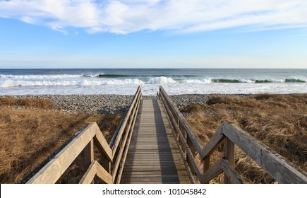 Boardwalk to the surf