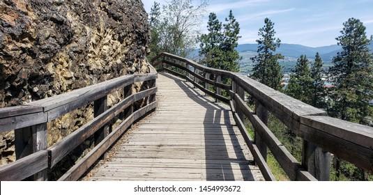 Boardwalk trail around mountain, Vernon BC