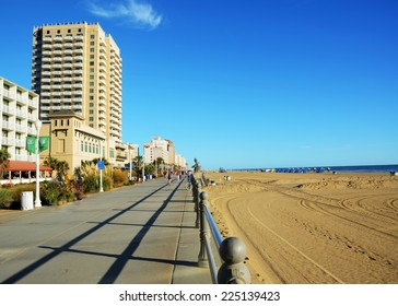 Boardwalk of Virginia Beach VA (USA)