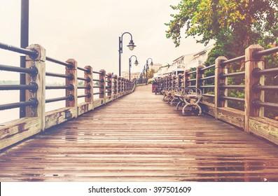 The boardwalk in Wilmington, North Carolina