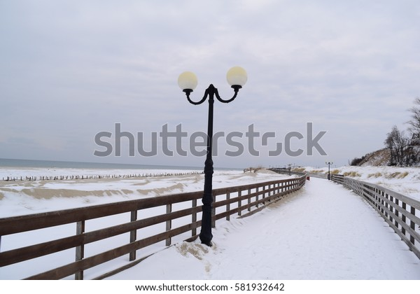 Boardwalk to Winter Beach