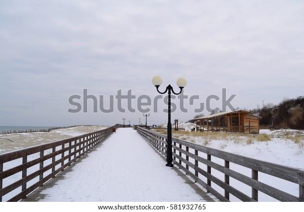 Boardwalk to Winter Beach