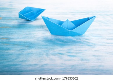 Boat Accident of one Boat and another Helping, Origami Boats
