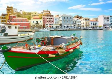 Boat. Agios Nikolaos. Crete, Greece