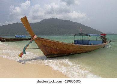 A boat is ANDAMAN sea ,southern Thailand.