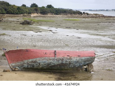 a boat in the bay