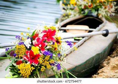 Boat with beautiful flowers