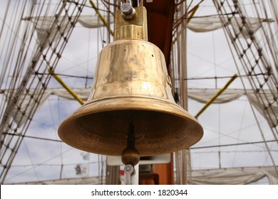 Boat bell aboard a sailboat