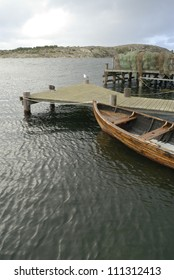 A boat by a jetty, Sweden
