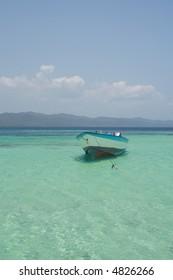Boat in the carribean seavista