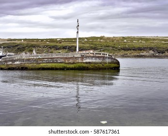 Boat cemetery in Port Stanley, Falkland Islands / Malvinas