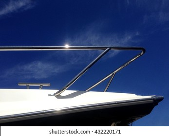 Boat deck hardware and hand rail details