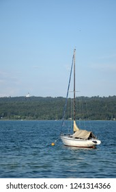 Boat at Diessen, Ammersee, Germany