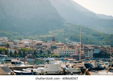 Boat dock, the city of Makarska, Croatia