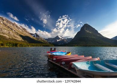 Boat Dock at Swiftcurrent Lake, Glacier National Park