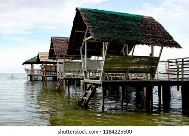 Boat Dock Water Cottages Palawan Philippines