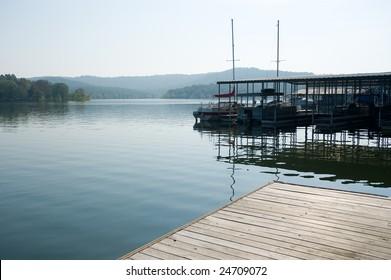 Boat docks at table Rock lake, Kimberling City, Missouri.