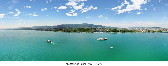 Boat Excursions on Lake Zurich, Switzerland in Summertime