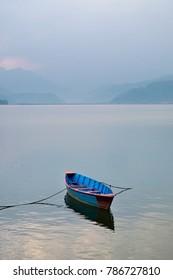 boat at Fewa lake, Pokhara, Nepal