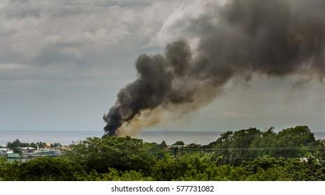 Boat Fire In Harbor