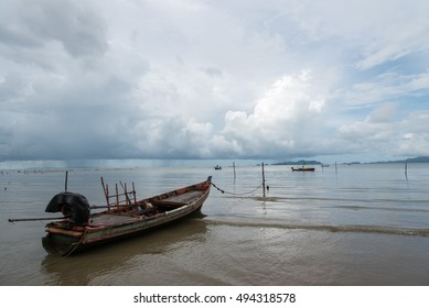 boat for fishing in the sea
