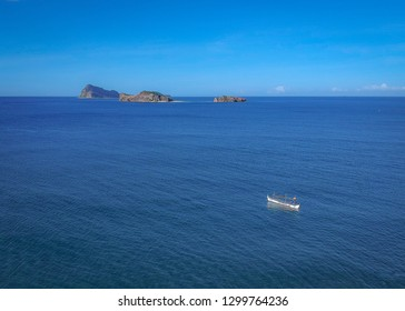 boat going to Capones Island in Zambales, Philippines