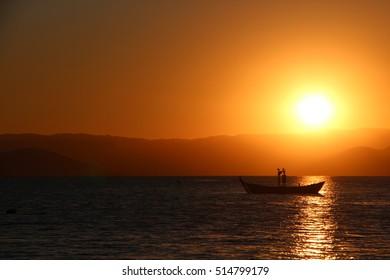 Boat going to sleep
