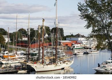 boat harbor in Camden, Maine
