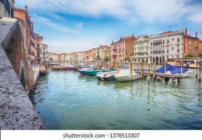 Boat harbor - Canale Grande, Venice, Italy