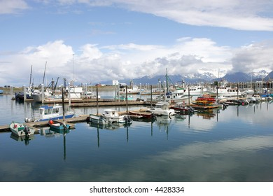 Boat harbor in Homer, Alaska