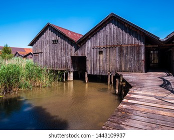 Boat House at Bavaria Lake Ammersee