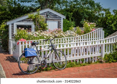 Boat house and bicycle in Martha's Vineyard