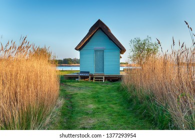 A boat house in the reeds near Horsey on the Norfolk Broads