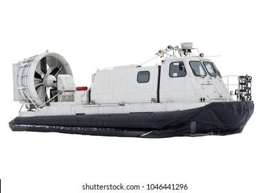 Boat hovercraft transport on white background isolated