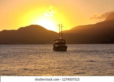 Boat in Ilhabela - Brazil