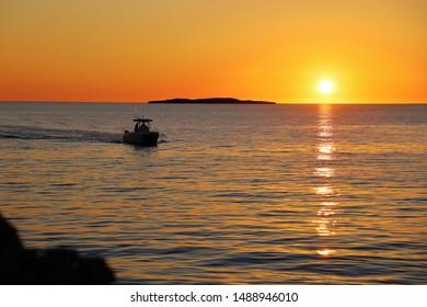 Boat island sunset Jurien Bay Summer