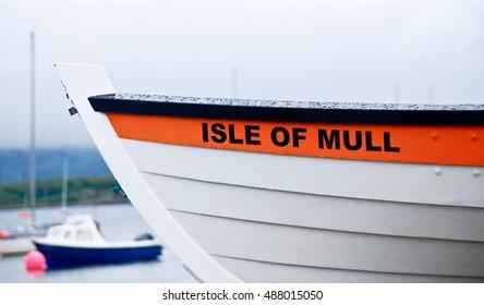 Boat at Isle Of Mull,Scotland