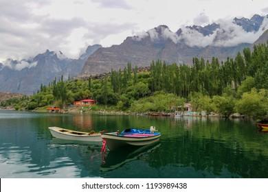 Boat in Kachula lake, Skardu, Gilgit-Baltistan, Pakistan