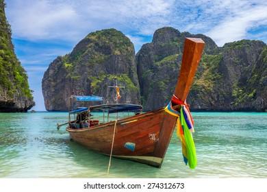 Boat at Ko Phi Phi Le