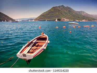 Boat in Kotor bay