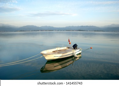 boat in the lagoon