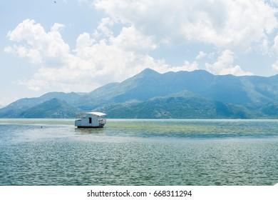 Boat in Lake Skadar