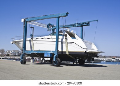 Boat lifter - observed in Erie, Pennsylvania