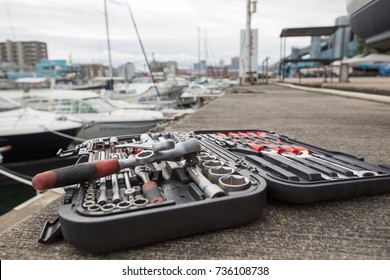 Boat maintenance landscape and tools
