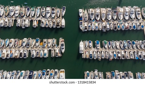 Boat Marina from above