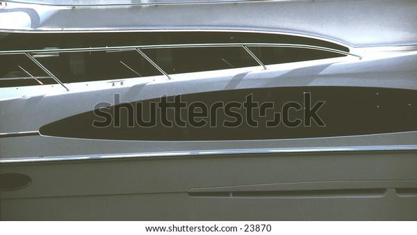 Boat @ Marina; Marine Abstraction monochromatic B+W