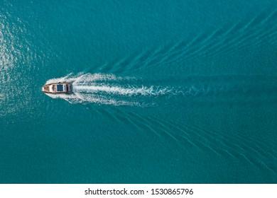 Boat in the mediterranean sea. Cyprus Ayia Napa Protaras 2019