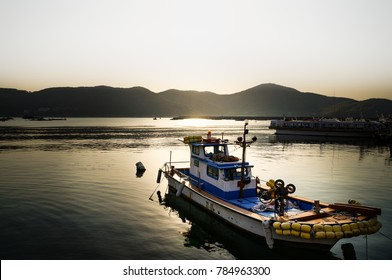 A boat in the morning, South Korean