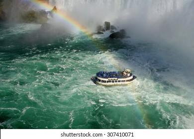 A boat at Niagara Falls