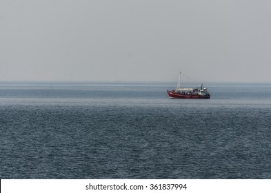 Boat on the Baltic Sea